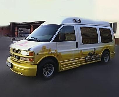 Заказать клубный автобус Шевроле байкер