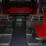 Интерьер клубного автобуса для большой компании