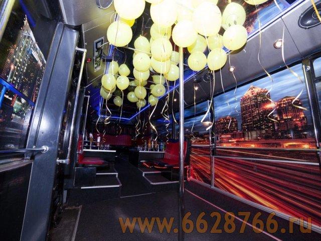 Интерьер и освещение автобуса Найт Патибас